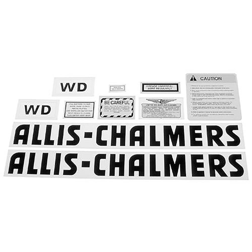 Black Lettering Aftermarket Allis Chalmers  WD45 Decal Set