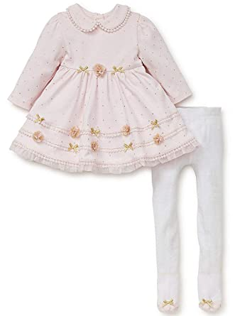 ec3ef997 Amazon.com: Baby-Girls Pink Sparkle Knit Dress Tights: Clothing
