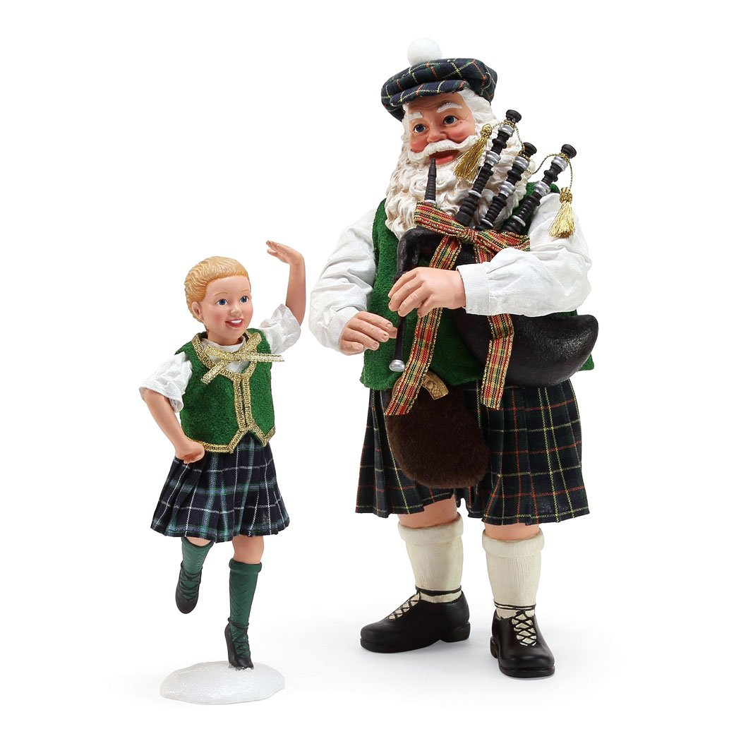 Department 56 Celtic Holiday Santa Country Dance Figurine, 11'', Multicolor
