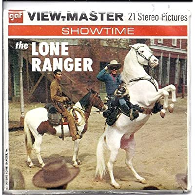 View Master The Lone Ranger - Clayton Moore 3 Reel Packet in 3D: Toys & Games
