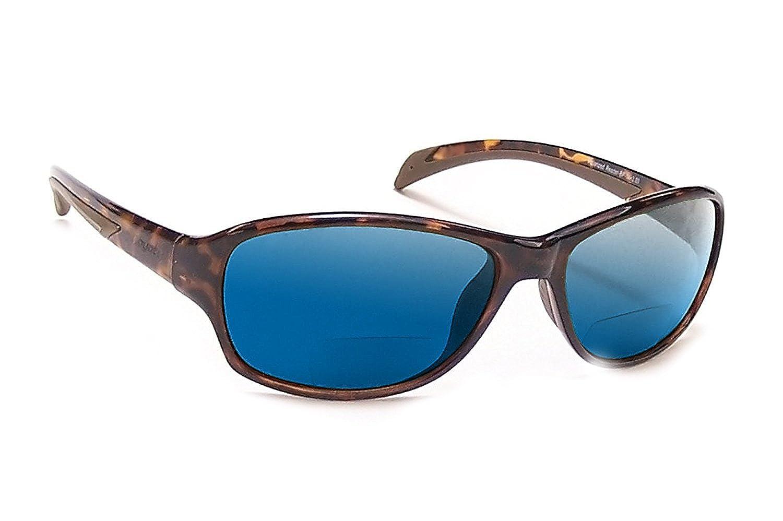 Coyote Eyewear bp-14偏光bi-focal Readingサングラス  Tortoise & Blue Mirror B0756MKW7J