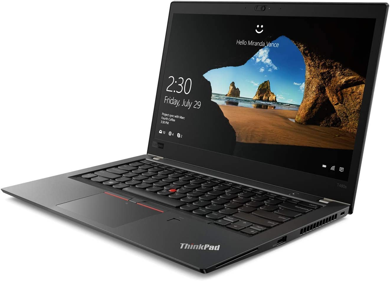 "OEM Lenovo ThinkPad T480s Laptop 14"" FHD IPS Display 1920x1080, Intel Quad Core i5-8250U, 8GB RAM, 256GB NVMe, Fingerprint, W10P"
