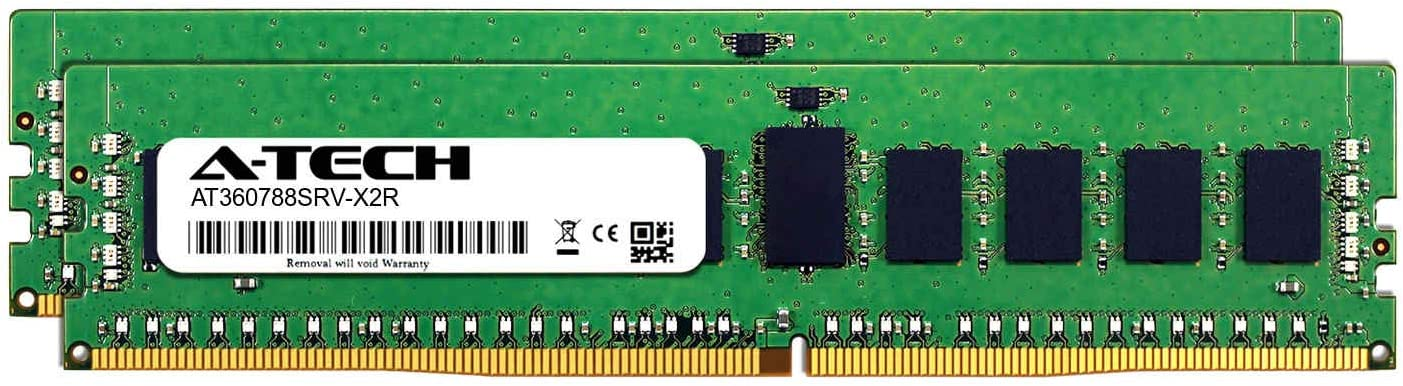DDR4 PC4-21300 2666Mhz ECC Registered RDIMM 2rx8 Server Memory Ram 2 x 8GB AT360777SRV-X2R2 for Intel Xeon Gold 6126 A-Tech 16GB Kit