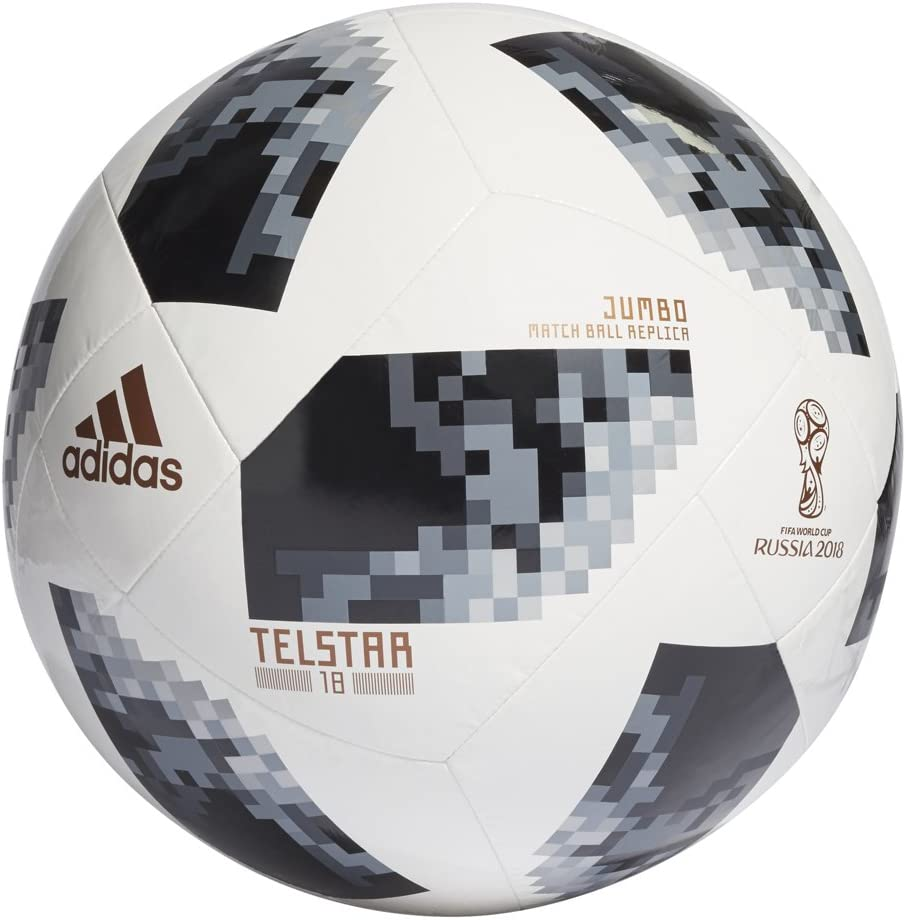 Pez anémona comienzo Hamburguesa  Amazon.com : adidas FIFA World Cup 2018 Russia Jumbo Soccer Ball : Sports &  Outdoors