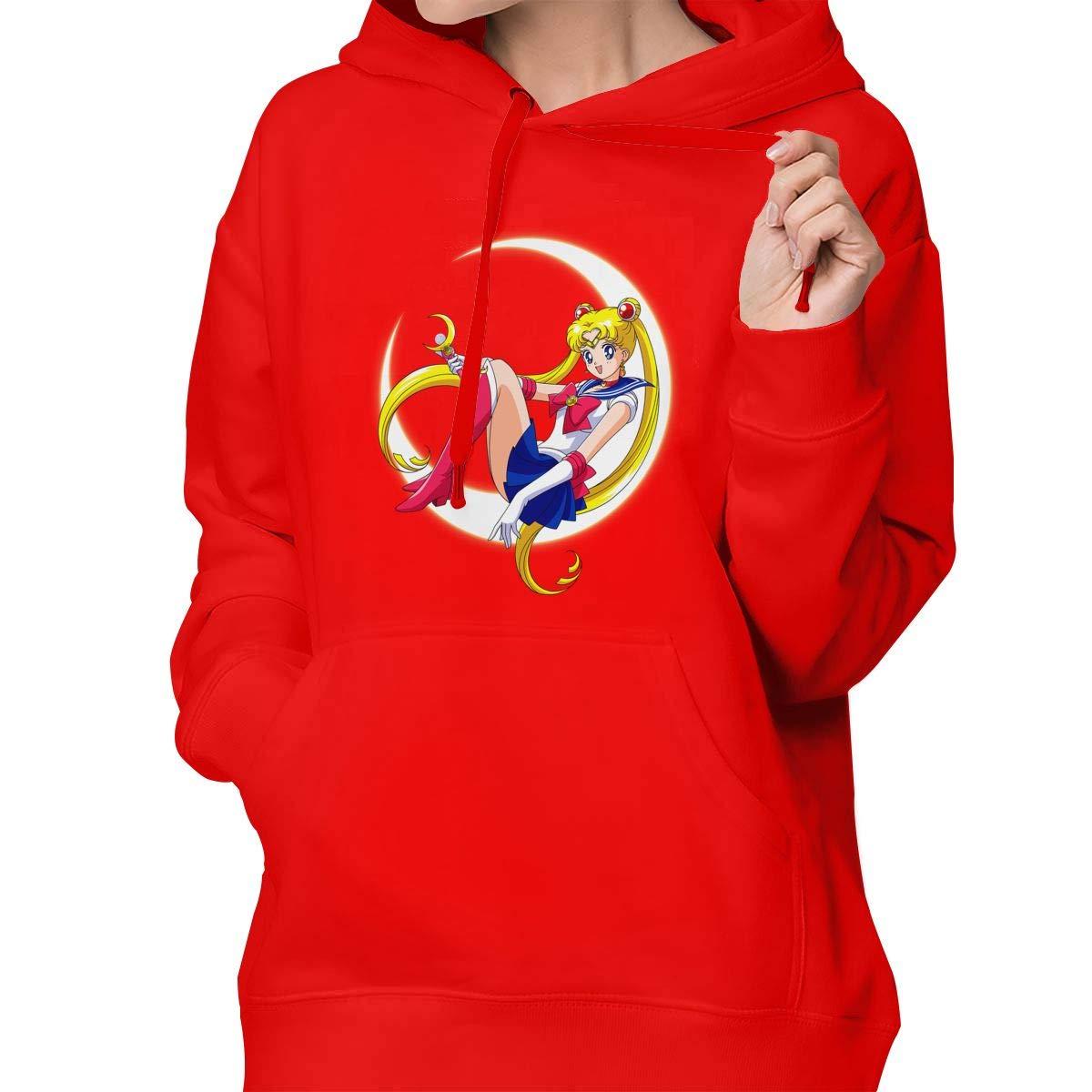 Hooded Sweatshirt Sailor Moon Chic Lady Pullover Hoodie BYUCI FMILOC