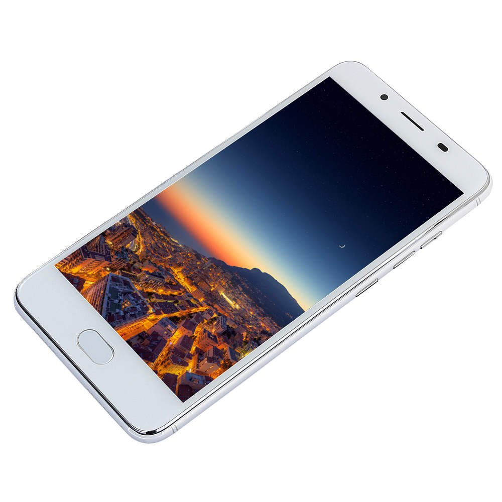 QYuan 512MB RAM+4GB ROM 5.5'' Ultra HD Double Card Double Stay Unlocked Smartphone - MTK6595 Octa-Core Processors Android 5.1 Operating Ssystem (White) by QYuan