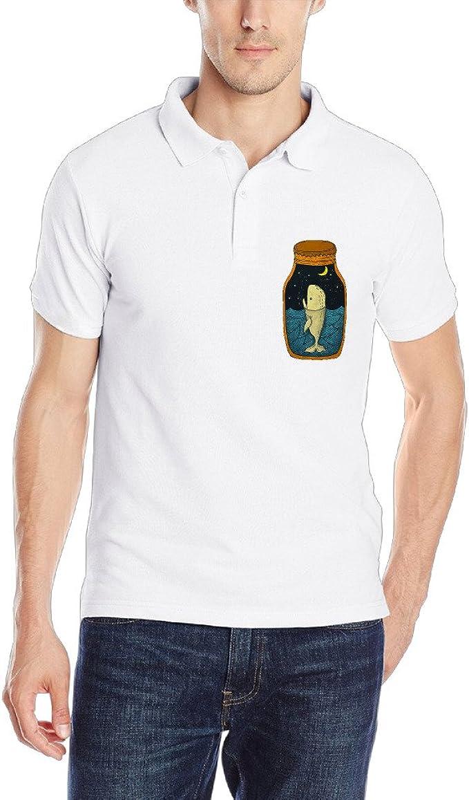 Ballena en la botella patrón hombres Funny polos camisas Polo ...