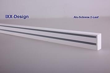 Extrem Amazon.de: ALU Schiene 2-Lauf weiß, Gardinenschiene für SG57