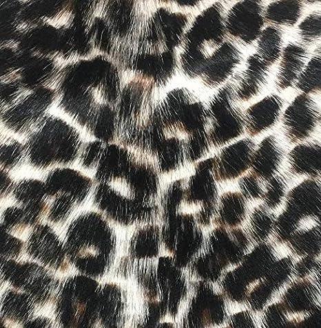 Genuine Goatskin Leather Hair On Hide Pelt 2-3 sf Snow Leopard Print #2