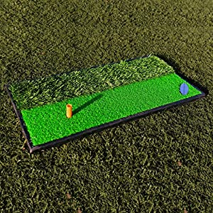 FORB Launch Pad Golf Practice Mat (2-in-1 Fairway/Rough) (24in x 12in) – Mini Golf Mat Combining Realistic Fairway & Semi-Rough Lies [Net World Sports] from Net World Sports