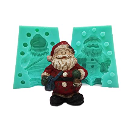Kitchen,dining & Bar Christmas Theme Silicone Mold Silicone Santa Claus Candy Mold For Fondant Fimo Gum Paste Chocolate Ideal Gift For All Occasions Bakeware