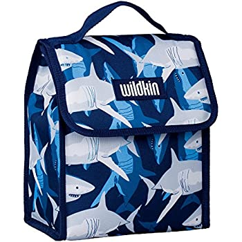 Lunch Bag, Wildkin Lunch Bag, Insulated, Moisture Resistant, Easy to Clean and Folds Flat Making Storage That Much Easier, Ages 3+, Perfect for Kids or On-The-Go Parents – Sharks
