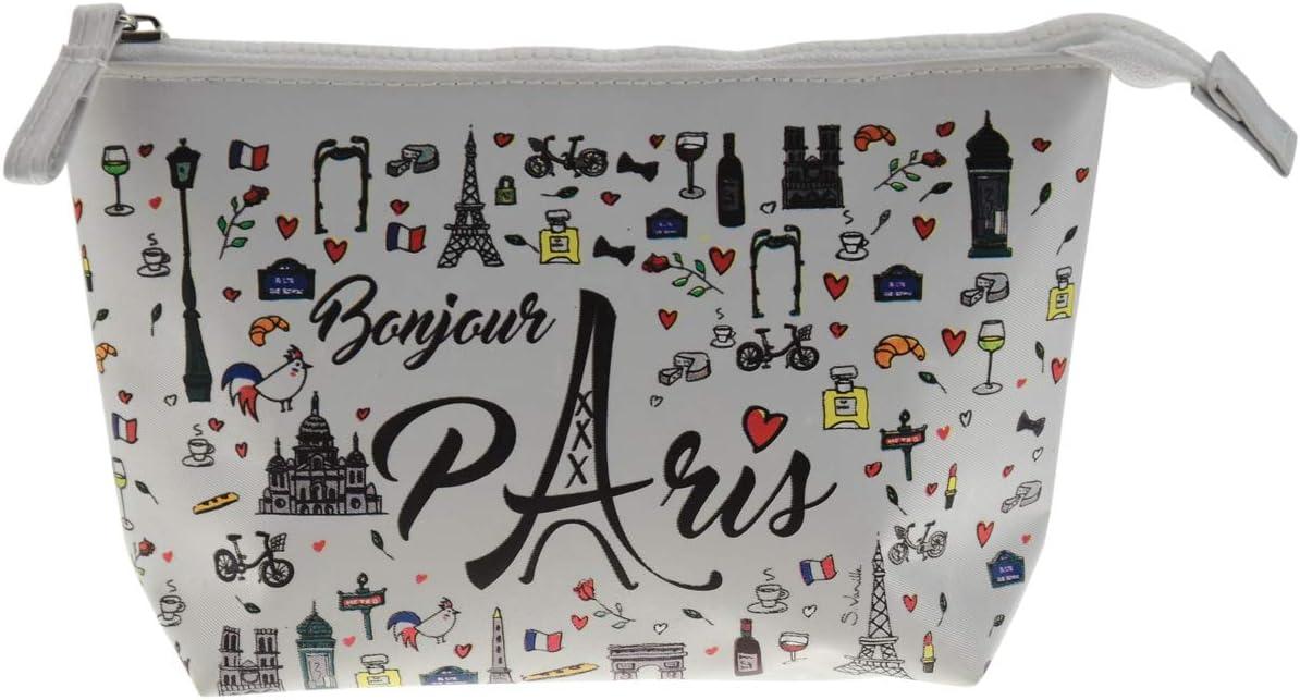 Incidence Paris Bonjour Estuches, 20 cm, Blanco (Blanc): Amazon.es: Equipaje