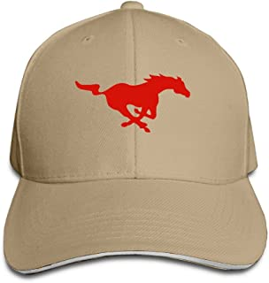 hittings SMU Mustangs doak Walker Eric Dickerson Sandwich Peaked Hats Brim Hat Natural
