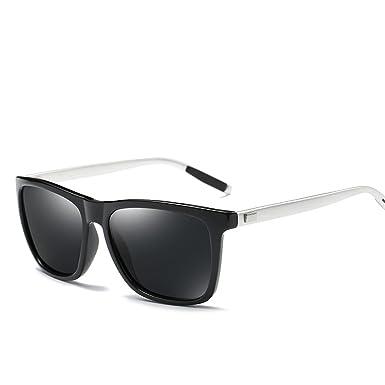 Men Drive Vintage Aluminum+TR90 Square Black Frame Glasses Male Sunglasses Women Gafas