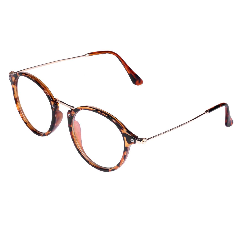 Forepin/® Dame M/ädchen klare Linse Brille Augen Durchsichtig Gl/äser Wechselgl/äser Sonnenbrille Brillenfassungen