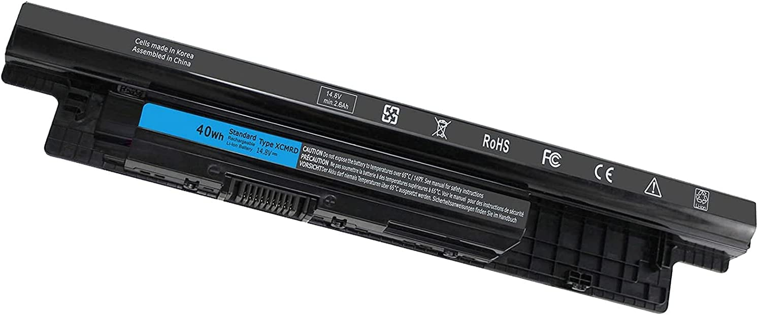 40WH XCMRD Battery Compatible with Dell Inspiron 14R 14 17 17R 15 15R 3000 5000 3521 3543 3421 5721 5537 17-3721 15-3537 3521 5537 5521 Latitude 3440 3540 N121Y Y1G4M 312-1387 XRDW2 YGMTN