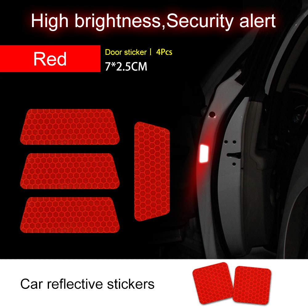 BEAUTOP 1Pcs Car Reflective Tape Sticker,Anti-collision Reflective Strip Warning Stickers for Car Motorcycle