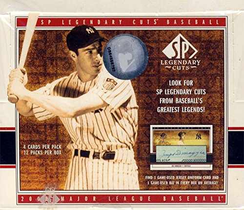 - 2002 Upper Deck SP Legendary Cuts Baseball Hobby Box