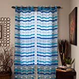 Cheap Lavish Home Sonya Grommet Single Curtain Panel, 95-Inch, Iris