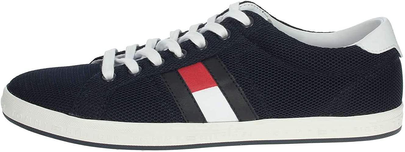 Tommy hilfiger essential flag detail sneaker scarpe da ginnastica basse uomo amazon shoes neri sneakers basse