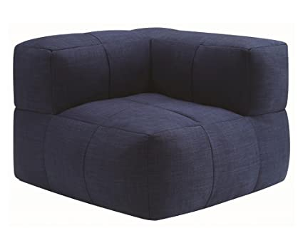 Miraculous Amazon Com Coaster Lazy Life Corner Bean Bag In Navy Machost Co Dining Chair Design Ideas Machostcouk