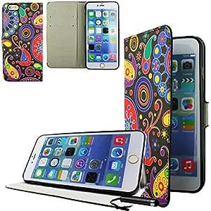 Ownstyle4you APPLE IPHONE 6S Cover Case Funda Carcasa Cuero Side CREATIVE + Pantalla