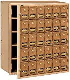 Salsbury Industries 2030FL  Mailbox, 30 Doors, Front Loading, Brass