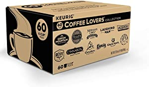 Keurig Coffee Lovers Collection Variety Pack, Single-Serve Coffee K-Cup Pods Sampler, 60 Count
