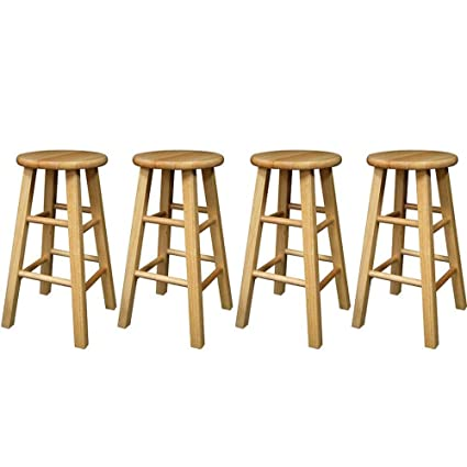 Magnificent Winsome 24 Inch Square Leg Counter Stool Natural Set Of 4 Free Bundle Shown In The Picture Ibusinesslaw Wood Chair Design Ideas Ibusinesslaworg
