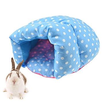 FLAdorepet Pequeño Animal Hamster Zapatillas Cama para Jaula Conejo Guinea Pig Cama Casa para Ardilla Rata