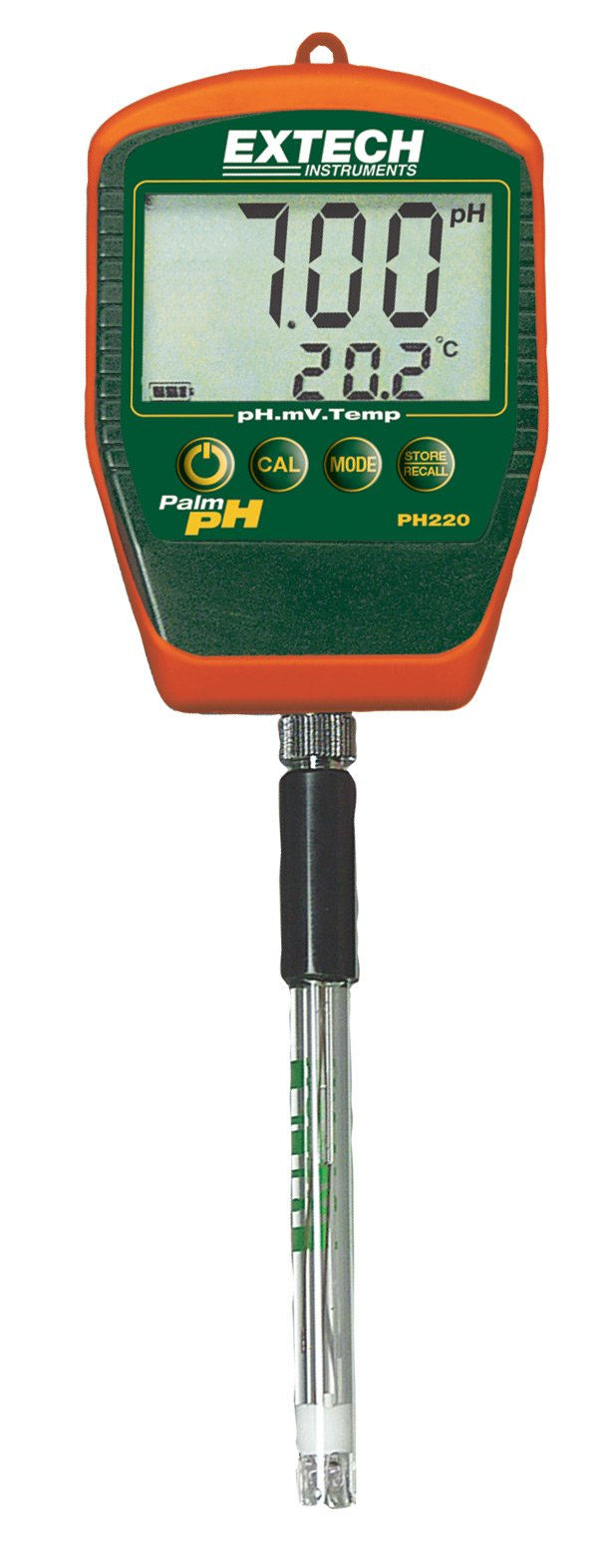 Extech PH220-S Palm pH Meter with Stick Electrode