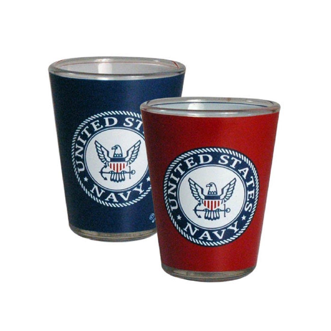 Jenkins Enterprises United States Navy Two Tone Shot Glass