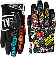 O'Neal Jump Gloves with Crank Graphic (Black/Multicolor, Size