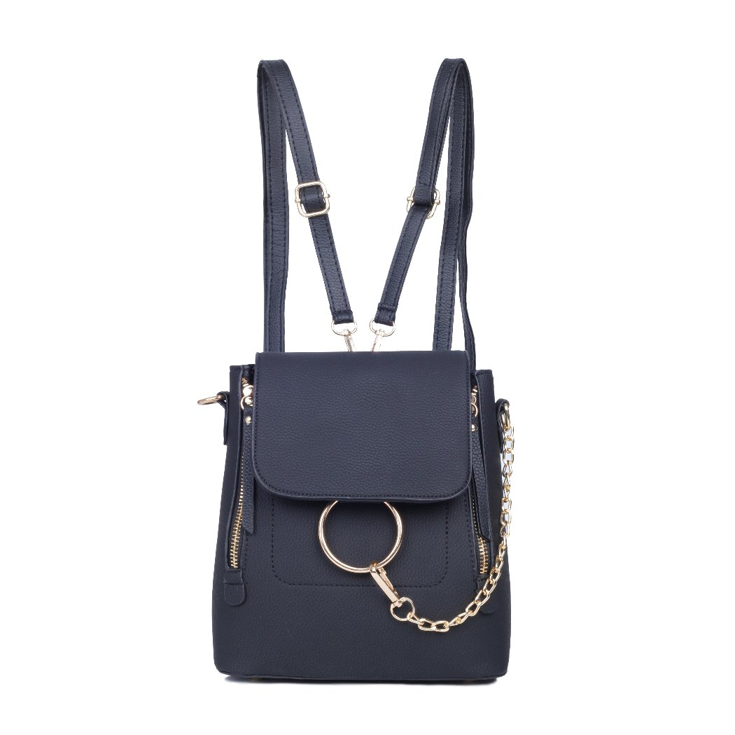 Backpack Purse for Women Leather Women's Purse Backpack Chain Cross Body Bag Shoulder Bags