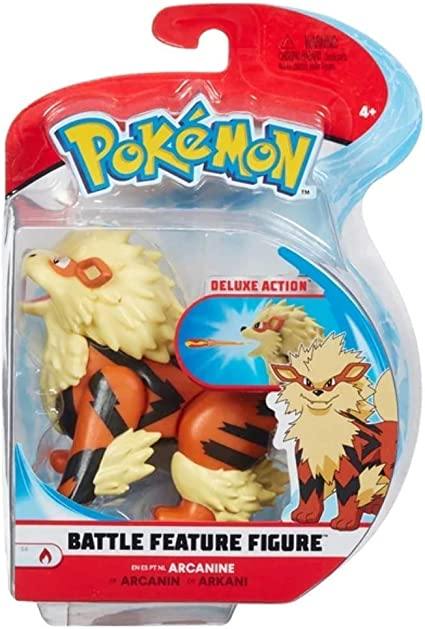 "Pokemon Blastoise Battle Feature Toy Figure Pack Deluxe Action 4.5"" NEW"