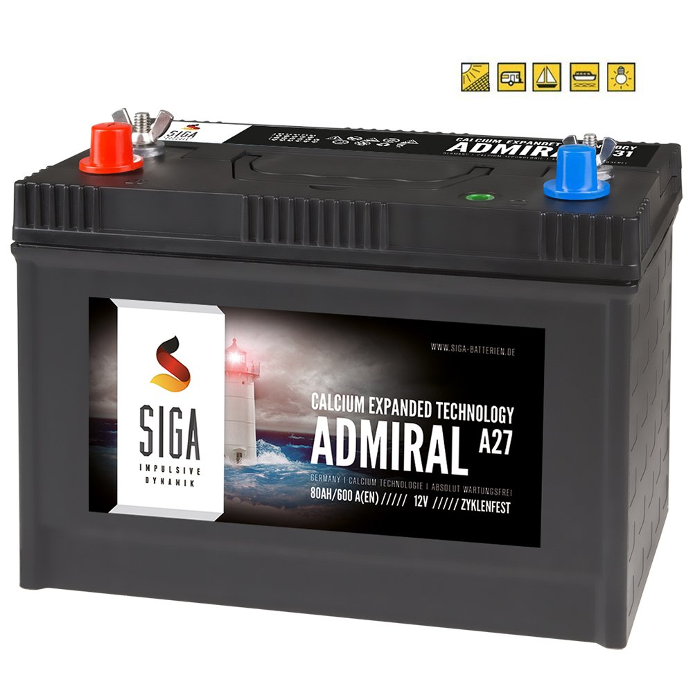 BSA Bootsbatterie 12V 80Ah Batterie Boot Schiff Rangierhilfe Versorgungsbatterie