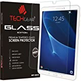 TECHGEAR® Samsung Galaxy Tab A 10.1 Inch (SM-T580 Series) GLASS Edition Genuine Tempered Glass Screen Protector Guard Cover