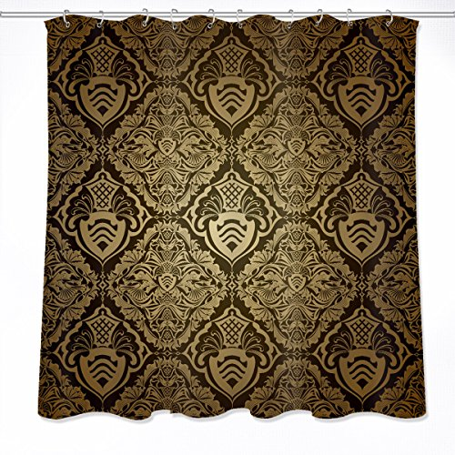LB Wallpaper Pattern Concise Wall Art Decoration Shower Curtain Polyester Fabric 3D 60x72