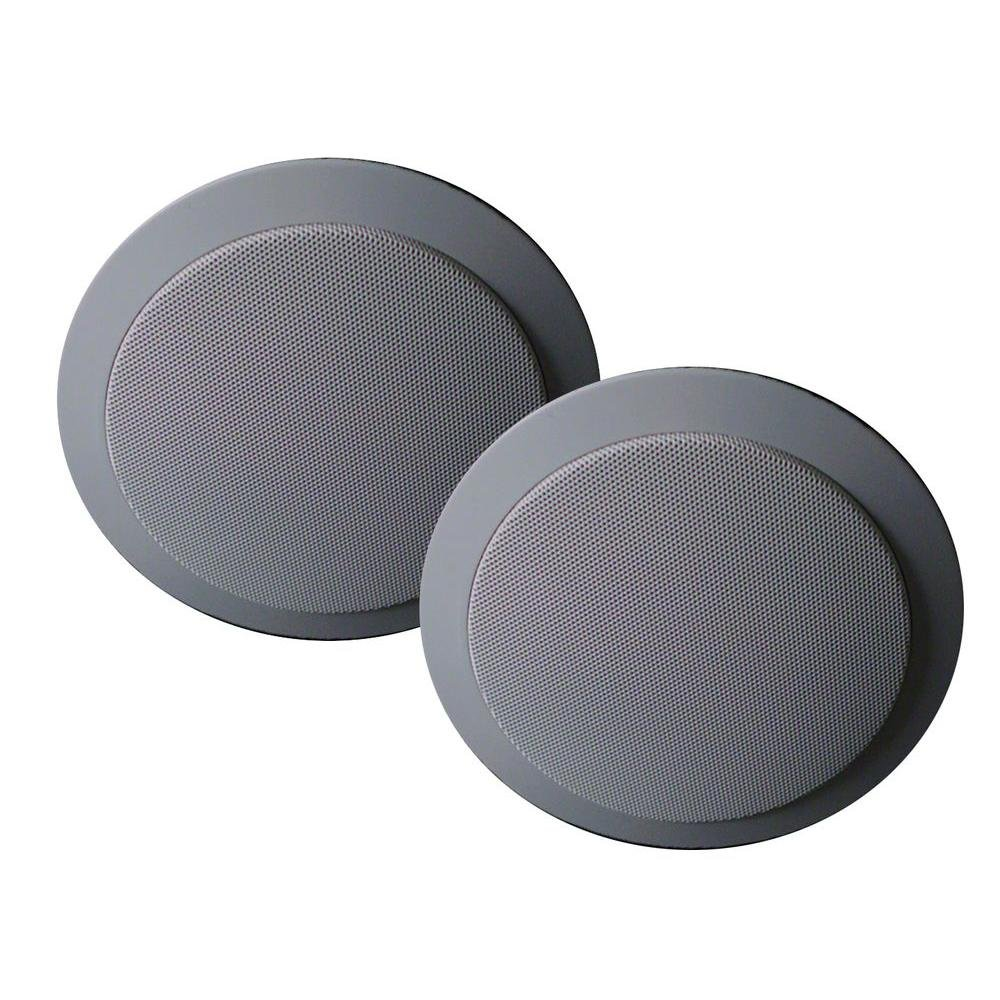 Mr. Steam Ms Speakers Two 5-1/2 Inch Diameter In-shower, Flush Mount Two-way Speakers