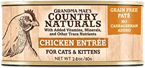 Country Naturals Grandma Mae's Chicken Entree Case of 24-2.8 Oz Cans Cat Food