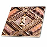 3dRose Danita Delimont - Religion - Mexico, Guanajuato, church door - 8 Inch Glass Tile (ct_278289_7)