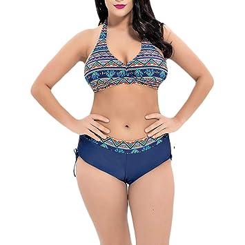 MERRYHE Conjuntos de Bikini para Mujer Traje de baño Halter ...