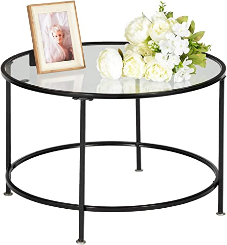 HOMCOM 2 Piece Tea Table Set with a Retro Industrial Style, Extra Storage Space Underneath, Multipurpose Use