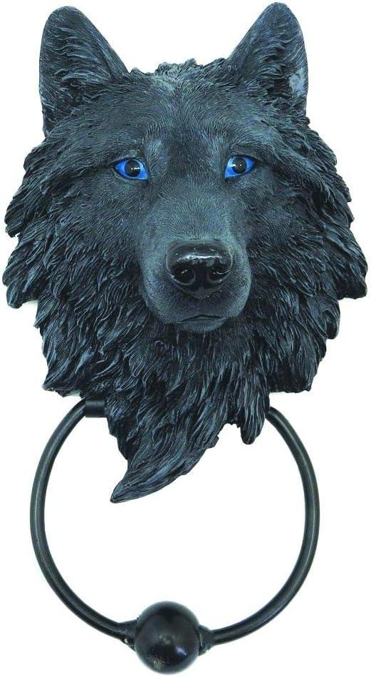 Nemesis Now Dark Guardian Wolf 22.8cm Door Knocker Aldaba (22,8 cm), polirresina, Negro, Talla única