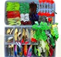 Fishing Lure Kit for Freshwater Saltwater,trout Bass Salmon(with Free Tackle Box)-include Vivid Spinner Baits,topwater Frog Lures,crankbaits Lures,spoon Lures,and More (198PCS Set)