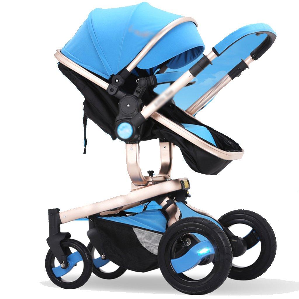 Cochecito Anna Sistema del Recorrido bebé Baby Trolley luz Paraguas de Coches de Cuatro Ruedas de colisión de Plegado Puede ser carritos de los niños de Mentira Regulable