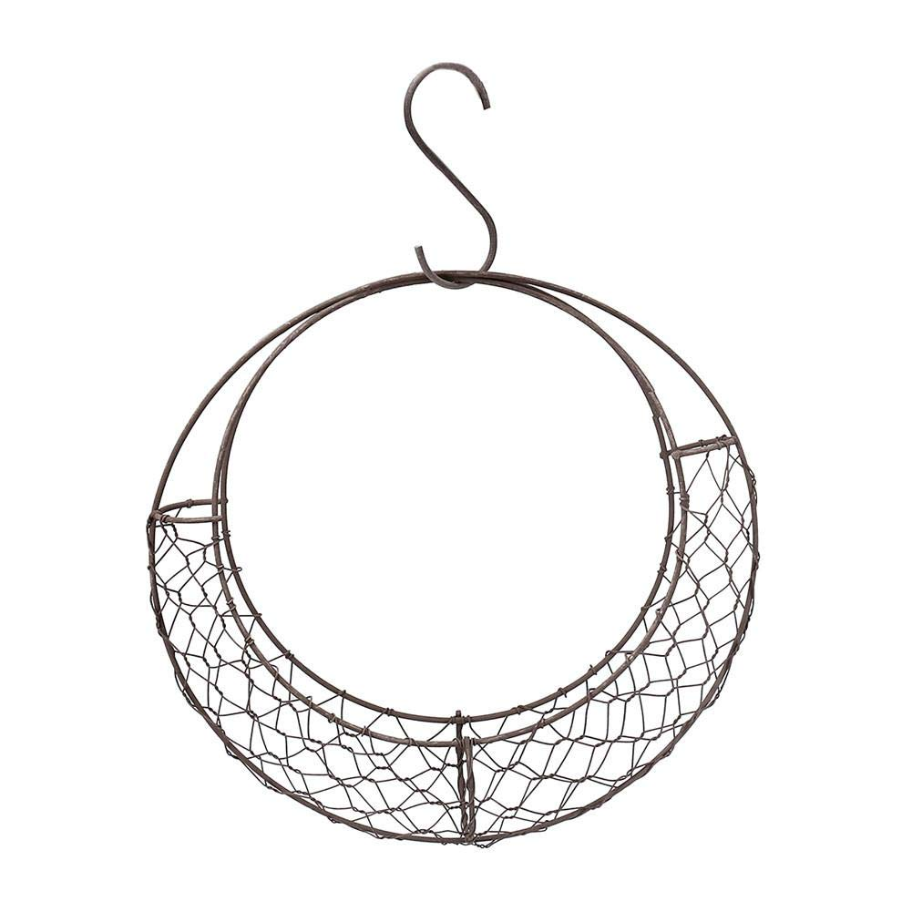 Cabinet Wire Basket Succulent Iron Moon Shape Hanging Basket Plant Flower Rack for Wedding Home Cafe Shop Party Decoration for Kitchen Pantry Bathroom and Office