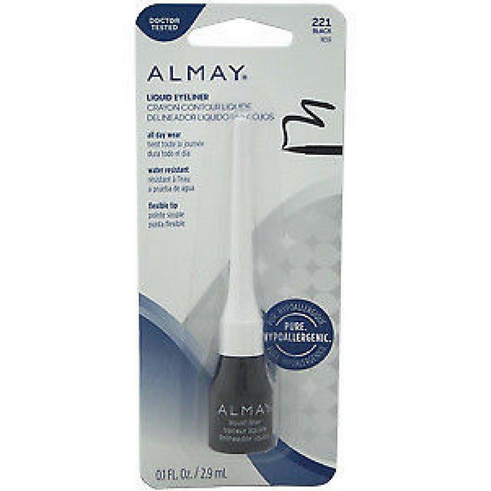 Almay Liquid Eyeliner, Black [221] 0.1 oz (Pack of 2)