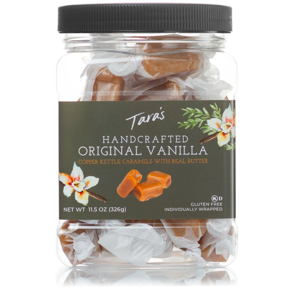 Tara's All Natural Handcrafted Gourmet Original Madagascar Vanilla Caramel: Small Batch, Kettle Cooked, Creamy & Individually Wrapped - 11.5 Ounce